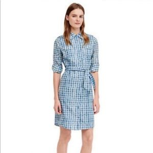 tory burch blue brigitte shirt dress